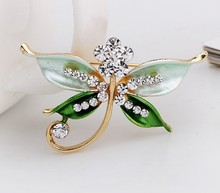 Top quality handmade antique dragonfly brooch rhinestone brooch design for women