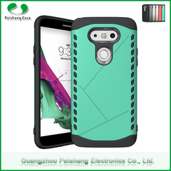 Mobile phone bags & cases colorful TPU PC 2 in 1 dual layer shockproof hybrid phone case cover for LG g5