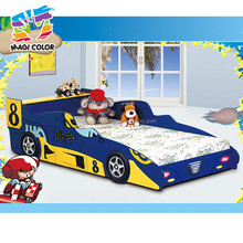 2016 wholesale wooden kids race car bed,high quality wooden kids race car bed,best sale wooden kids race car bed W08A022