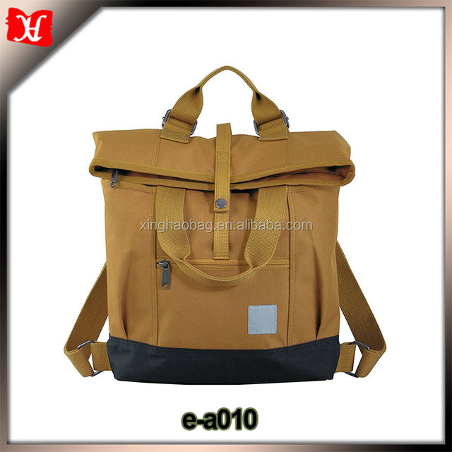 High quality vintage cool stylish cheap outdoor trendy canvas laptop backpack 2017