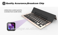 Multifunctional aluminium alloy foldable bluetooth3.0 keyboard with high quality