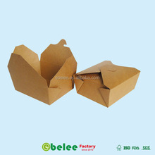 bio-degradable kraft paper lunch box disposable