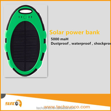 Hot selling slim mobile solar power bank charger 5000mah waterproof cellphone charging