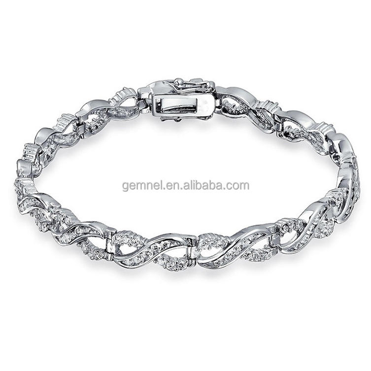 Forever Eight Shape Pave Cubic Zirconia Infinity Love Bracelet Women