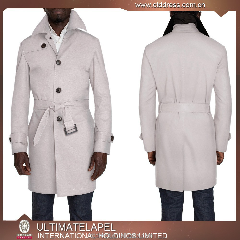 2015 new style beige mens trench coat