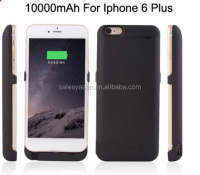 10000mAh External Recharger phone case Charger Backup Battery Case Pack Power Bank Case For iPhone 6 Plus 5.5""