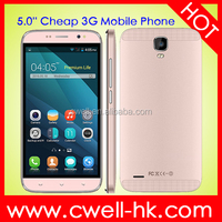 2016 Telefono Android H-Mobile G7 MTK6572W Dual Core 5 inch Touch Screen Pink Mobile Phone Android