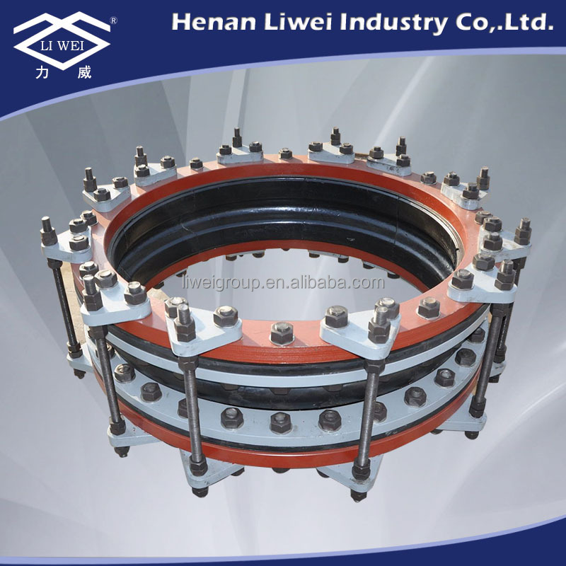 DN300-DN3600 Large Diameter Flanged Viton Rubber Water Pipe Expansion joint