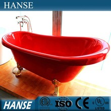HS-X017A best red tub/ clawfoot tub low/ clawfoot tub cheap