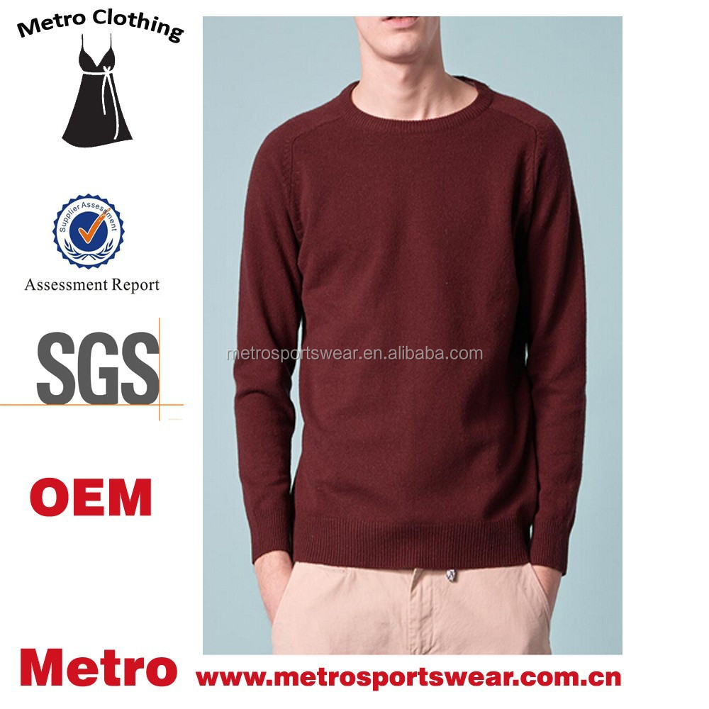 Plain Men's Wholesale Fashion Round Collar Winter Sweatshirts