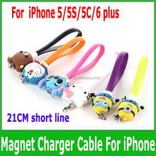 Data cable keychain magnet noodles charge line cartoon dust plug For for apple iphone 5s 6