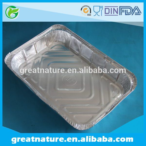 disposable aluminum foil food container for BBQ fast food