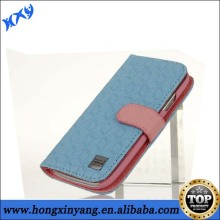 Double Color Leather Case With Card Holder For Samsung Galaxy S3.