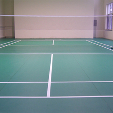 Floor finish materials for badminton sport court
