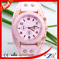 fashion leather bracelet watch ladies water resistant cheap case vintage antique style chinese clock promotional items