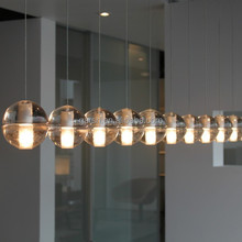 Modern Designer LED Crystal Bubble Ball Pendant Lamp