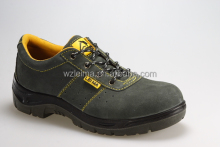 China factory grey suede leather,hiking climbing cheap safety shoes steel toe anti-puncture PU double density sole
