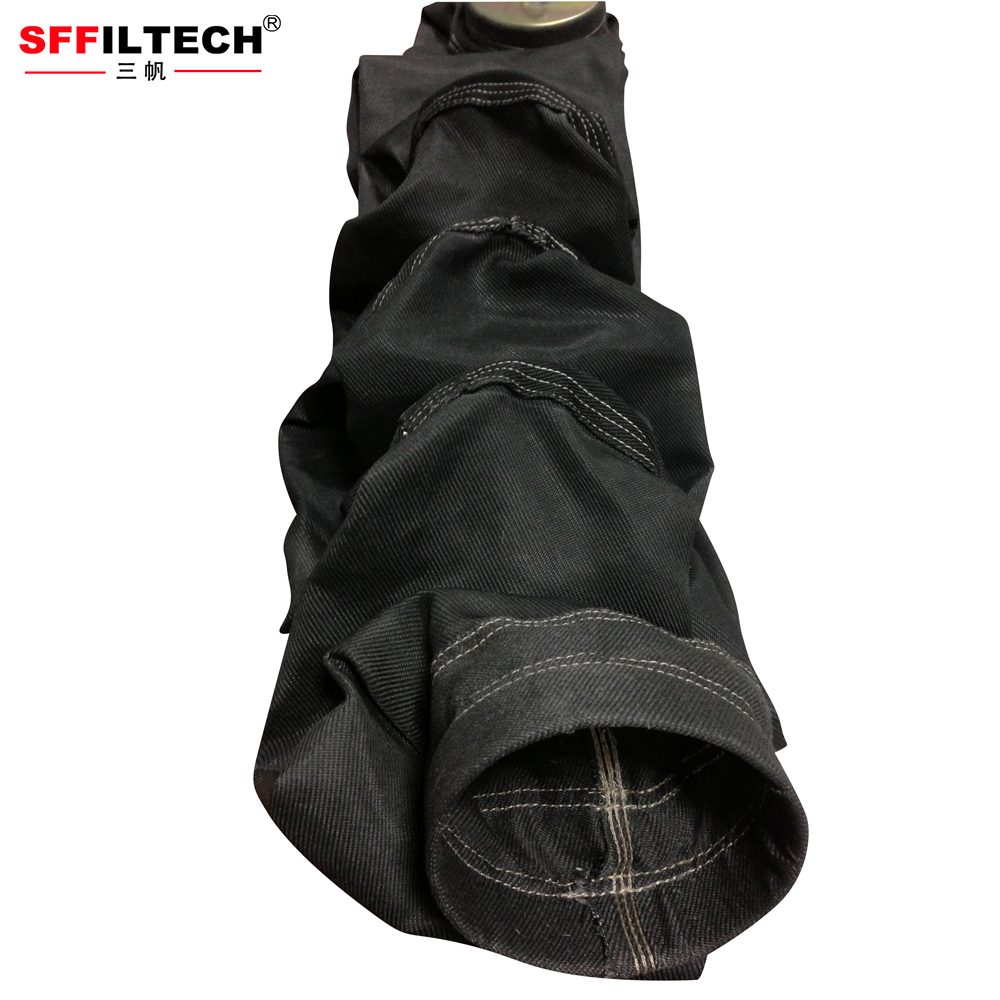 1 Micron Dust Collector Cement Glassfiber Filter Bag For Factory