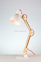 Morden Foldable Reading Wood Table Lamps
