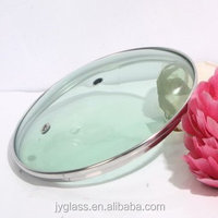 C Type tempered glass pot lid