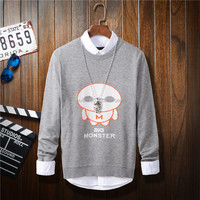 2016 hot sale casual style unisex boys and girls cute cartoon print pullover sweater