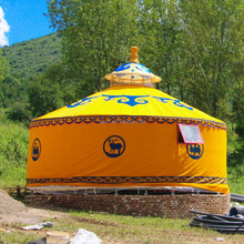 Outdoor Canvas Waterproof Steel Frame Tent Mongolian Ger Yurt