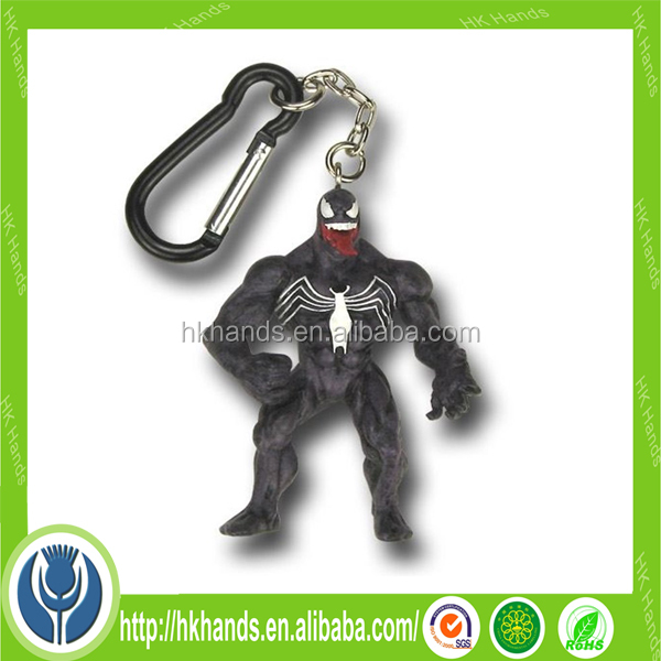 3D pvc tooth neck strap keychain