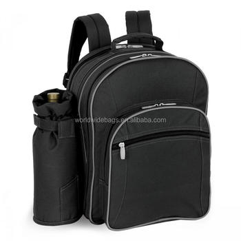 Picnic Time Insulated Cooler Backpack with Picnic Service for Four