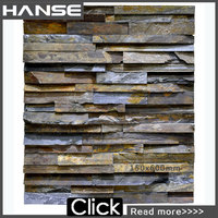 HS-MB011 favorable price green landscaping interior faux stone wall panels