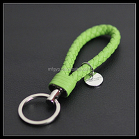2016 various fashion colors hand made keyring leather strap braided key chain