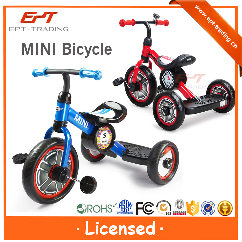 "Top quality licensed 10"" kids tricycle with back seat for sale"