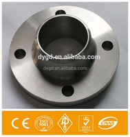 Professional din flange pn16 dn40 cs long welding neck flange ss forged flange 600 class