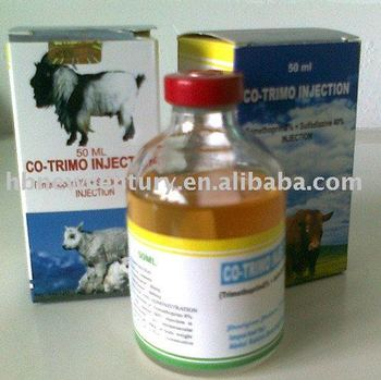 veterinary use Sulfadiazine +TMP Injection (40% + 8%)