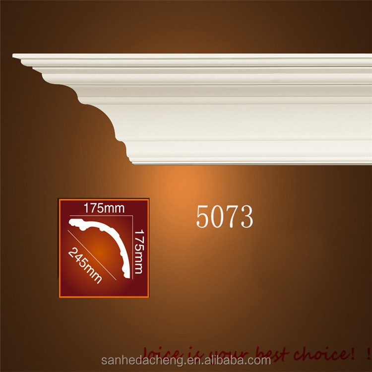 Pvc cornice mdf base interior decoration ceiling mouldings