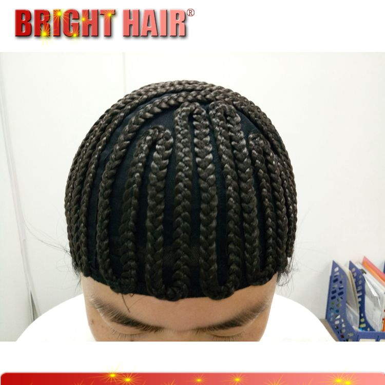 Cap cornrow wig for making braid synthetic wig easily for make hair extension