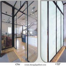 Electric transparent film glass switchable opaque smart glass for building smart glass cost