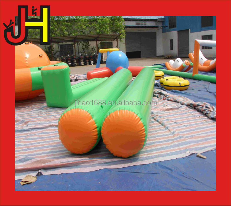 Custom green large inflatable buoy for water park