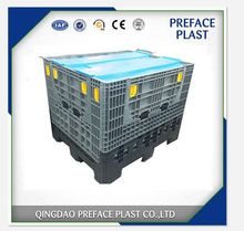 Heavy duty transparent plastic stackable collapsible large box