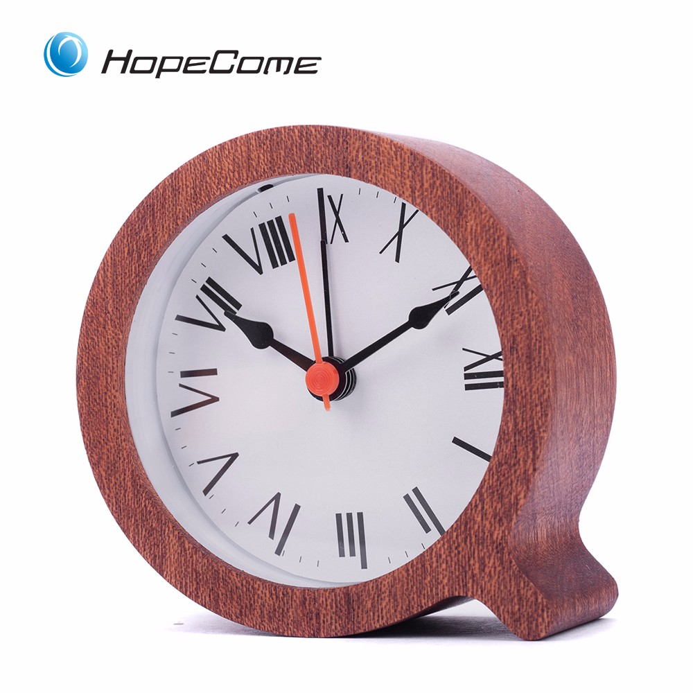 wooden fashion desk alarm clock