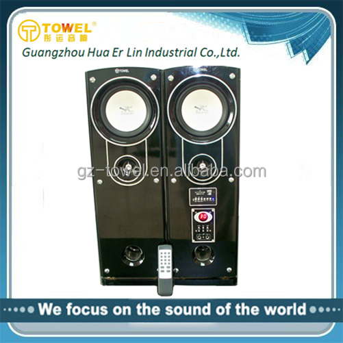 Multimedia Speaker Cheap Active Speakers 2.0 Tower Speaker With Remote Control