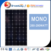 High Efficiency Solar 260w 60 Cell Solar Panel Mono 260w Solar Pv Made In China