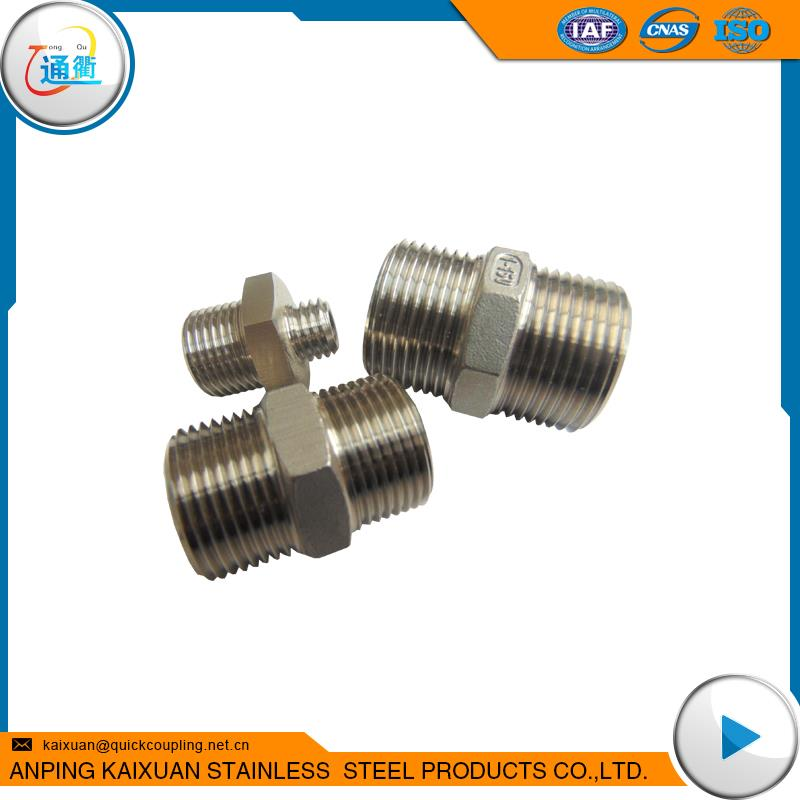Plastic casting stainless steel nps nipple stainless steel close nipple pipe fitting made in China
