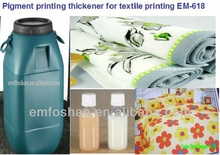 high performance flat and rotary screen chemical textile printing paste pigment thickener