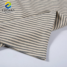 High quality cheap japanese stripe grey tee shirt cotton knit fabric