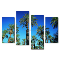 Coconut trees landscape canvas prints wholesale in china