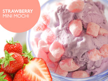 strawberry mini mochi