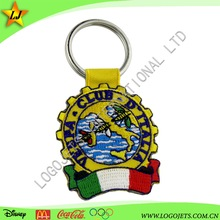 Fabric Keychain Custom EmPromotional embroidery Keychain/felt keyring/High Quality In Cheap Pricebroidery Keychain
