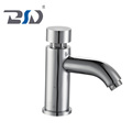 High Quality Chrome Brass Basin Sink Single Cold Time-extended Delay Faucet Tap