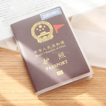 clear plastic passport cover