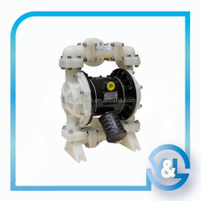 Cheap air powered diaphragm pump for manual liquid pump
